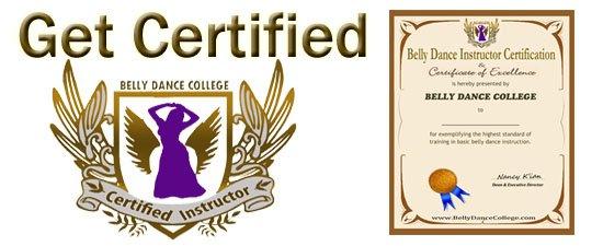 Certified belly dance training
